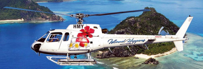 island hoppers fiji helicopter transfers