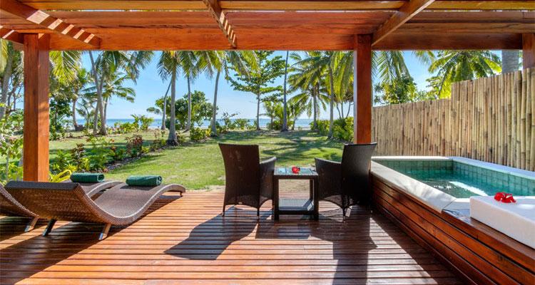 lomani island resort beachfront bungalow