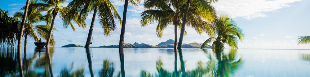 tokoriki resort fiji infinity pool banner