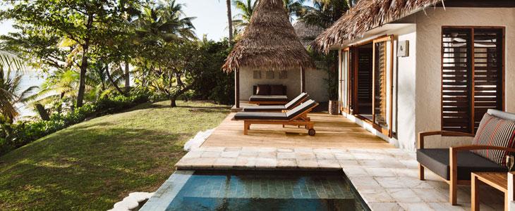 tokoriki resort fiji pool bures
