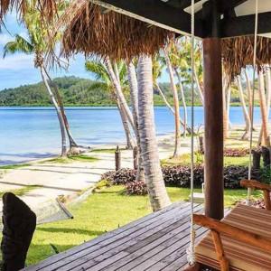 tropica resort fiji beachfront pool bure