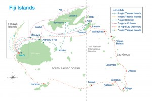 captain cook cruises fiji map