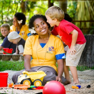 kids club outrigger on the lagoon fiji