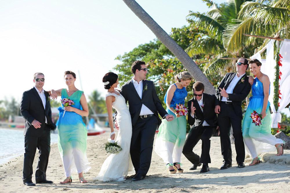 musket cove fiji wedding