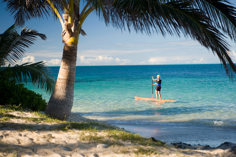 castaway island resort fiji paddle boarding