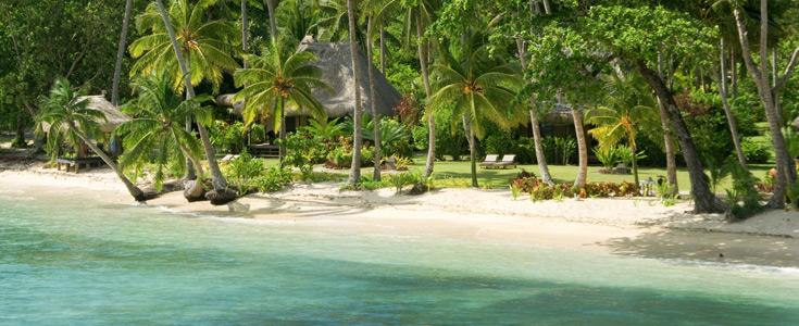 beachfront bures fiji qamea resort
