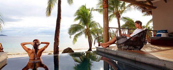 beachfront bures fiji tadrai resort