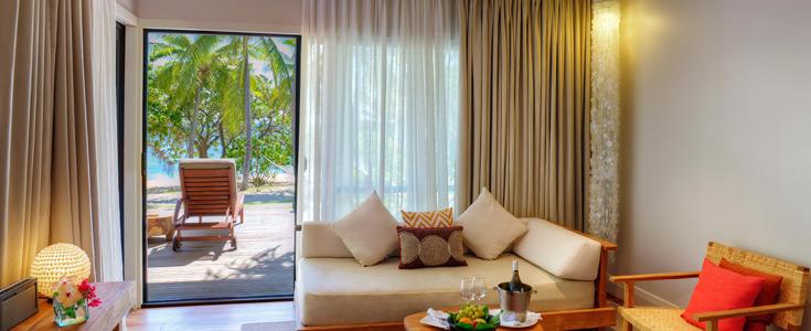 beachfront bures fiji vomo resort