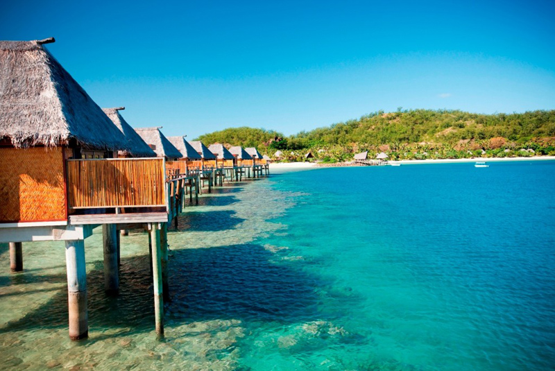 Over water bungalows and villas on the water in fiji Overwater bungalows fiji