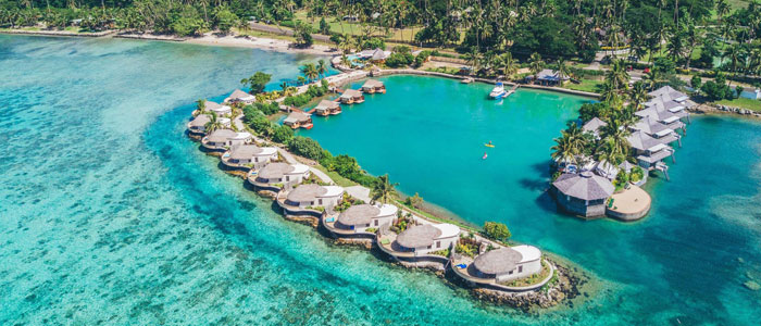 over water accommodation in fiji