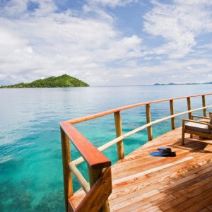 over water bungalow fiji