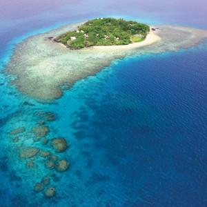 royal davui resort fiji aerial