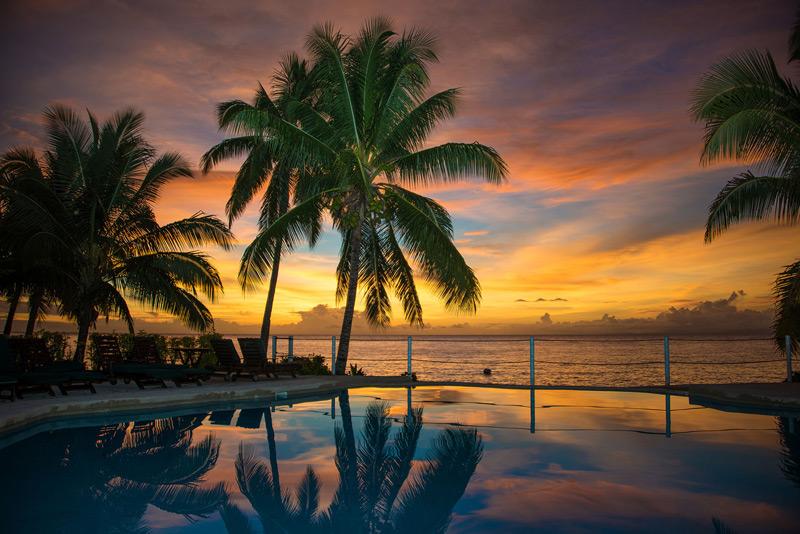 paradise taveuni fiji sunset