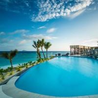 mana island resort pool beachfront
