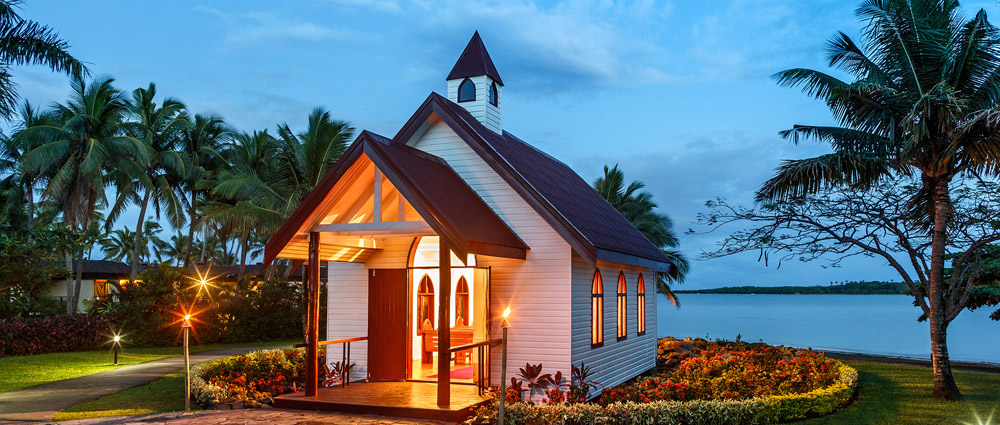 fiji wedding sofitel resort chapel