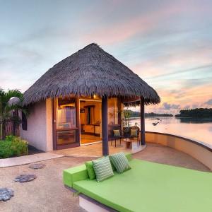 koro sun resort fiji edgewater bure deck