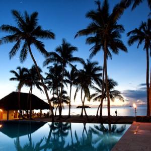 tropica island resort fiji pool sunset