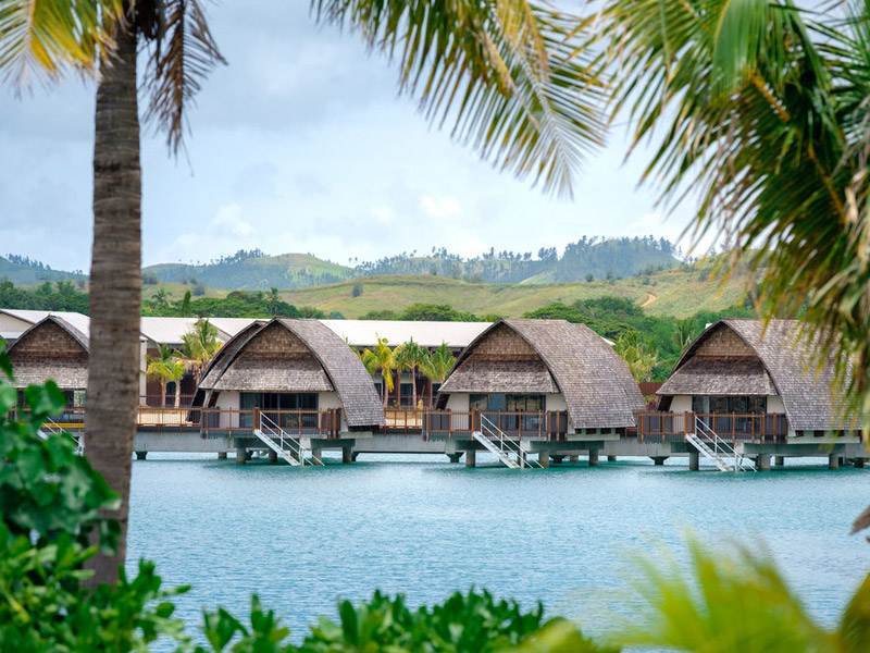 Fiji marriott resort momi bay over water bungalows fiji Overwater bungalows fiji