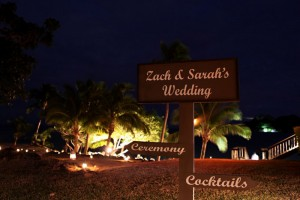 Fiji Wedding Inspiration – Signage