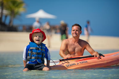 fiji holiday with kids castaway island resort aqua pass