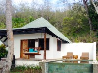 One of our beachfront bures with private plunge pool