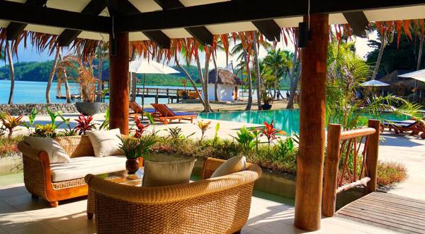 tropica island resort fiji pool area