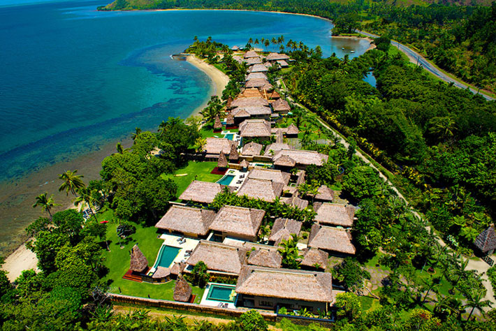 fiji resort review nanuku auberge resort aerial
