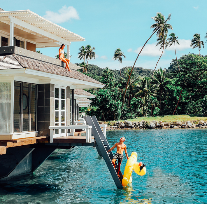 over water accommodation fiji