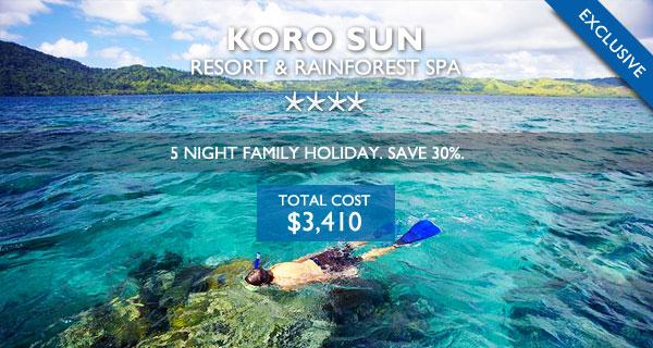 koro sun resort fiji family holiday