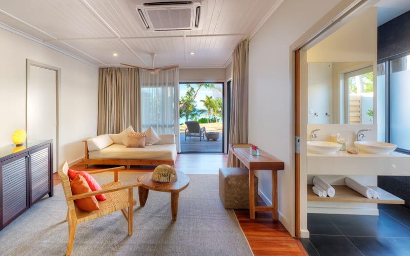 vomo island accommodation beachfront retreat lounge