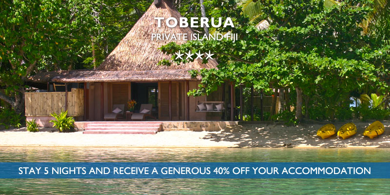 toberua island fiji travel deal
