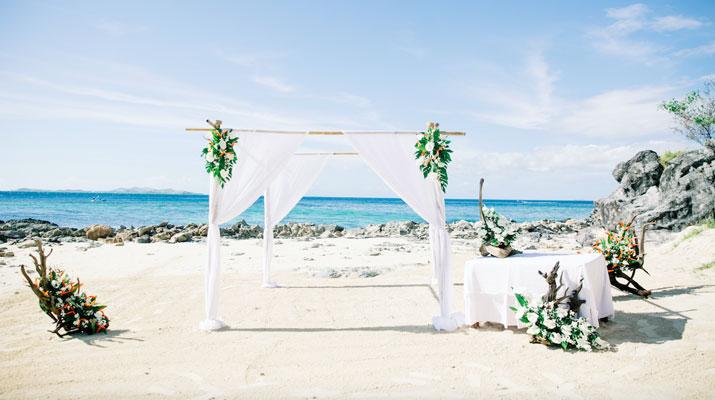 castaway fiji wedding